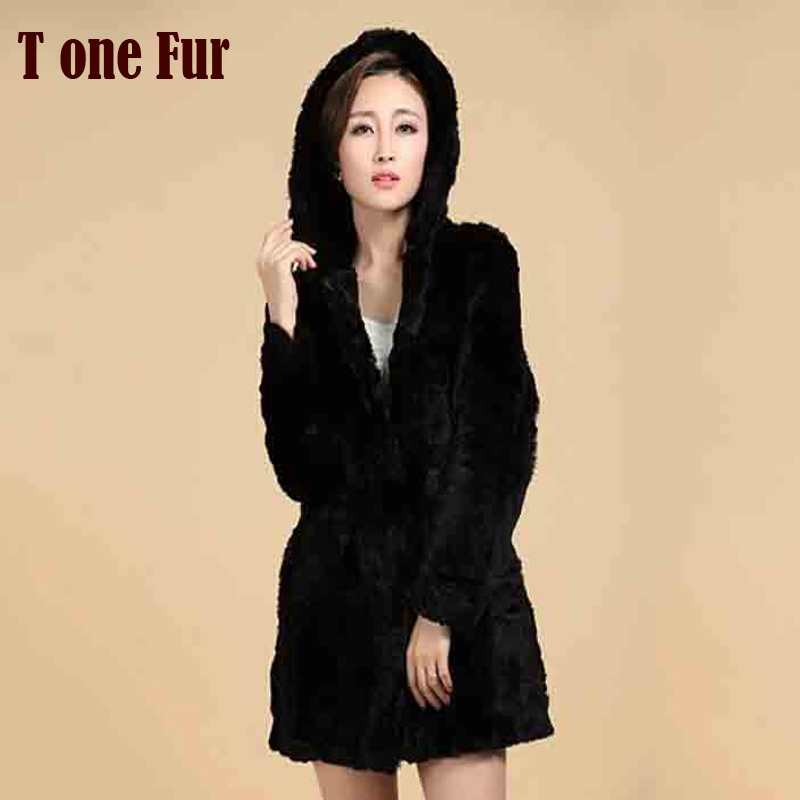 New Women Winter Warm Real Natural Genuine Rabbit Fur Coat FP359 Free Shipping in Low price and good quality export Fur(China (Mainland))