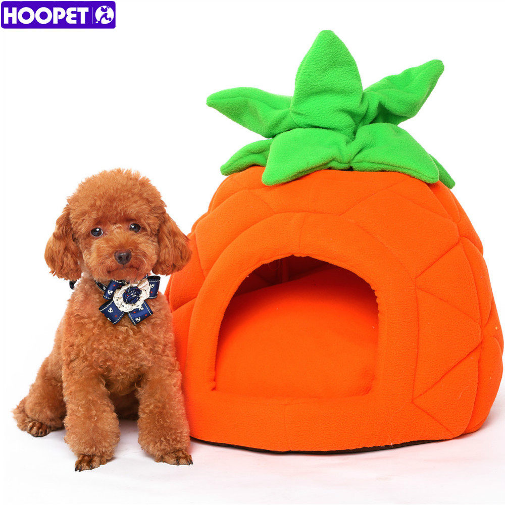 HOOPET Puppy Cat Dog Warm Soft Ananas Shape Pet Bed with Completely Removable Cushion Pet House Cama Perro(China (Mainland))