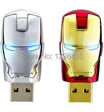 Newest Justice League Heroes/ Iron man USB 2.0 Flash Drive/U Disk/Creativo Pendrive/Memory Stick/Disk/Gift(China (Mainland))