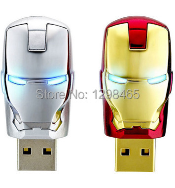 Newest Justice League Heroes/ Iron man USB 2.0 Flash Drive/U Disk/Creativo Pendrive/Memory Stick/Disk/Gift(China (Mainland))