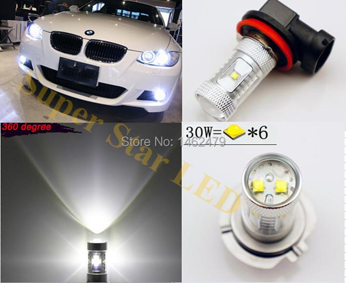 Super Bright  High Power  Xenon White H8  Fog Light   CREE  LED Kit  For   BMW E92 E93 BMW 2009-2012<br><br>Aliexpress