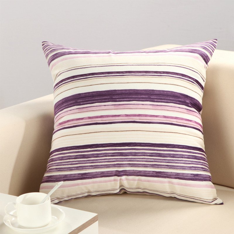 Enterhome Creative Decorative Cotton Striped Pattern Throw Pillow Case Soft Housse Coussin Modern Cover for Cushions