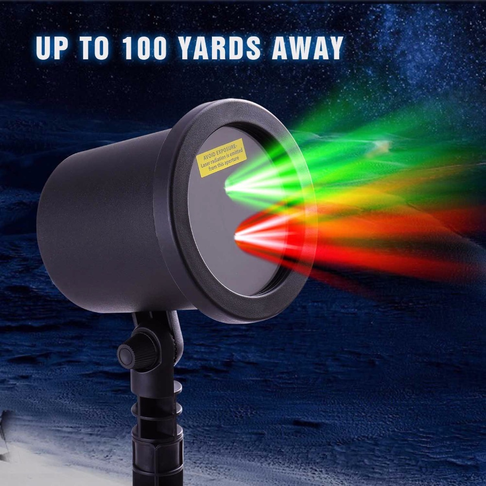 Outdoor Laser Christmas Lights Projectors, Waterproof Star Red and Green Spotlights for Garden House Yard Patio Landscape(China (Mainland))