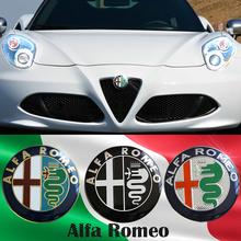 1 Specials sale 74mm 7.4cm ALFA ROMEO Car Logo emblem Badge sticker Mito 147 156 159 166 - CAR DILAIFEI 6 Store store