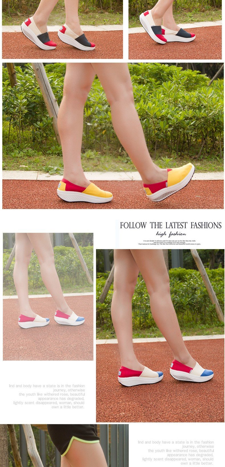 2016 Swing Fashion Casual Shoes Woman High Quality Canvas Shoes Women Summer Walking Shoes Women's Platform Shoes
