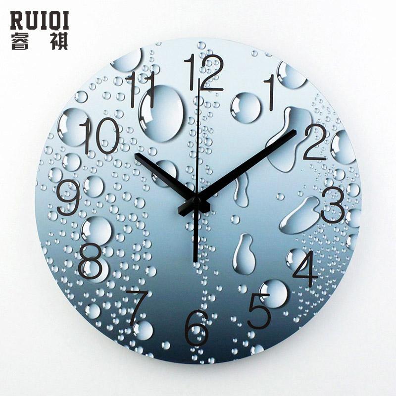 Acheter grande taille 3d d corative horloges murales design moderne silencieuse for Grande horloge murale solde