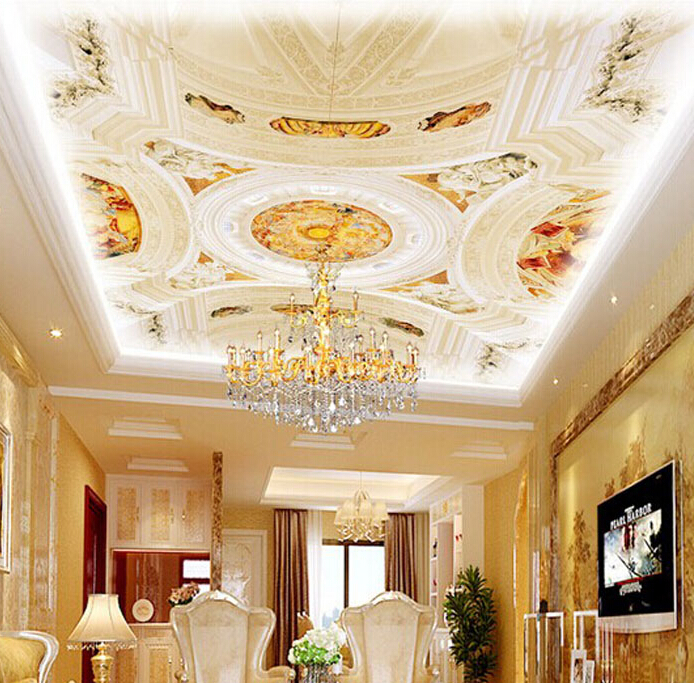 3d ceiling murals bing images for Ceiling mural wallpaper