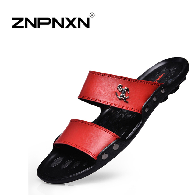 Новый 2015 известный бренд свободного покроя мужчины сандалии тапочки летняя обувь пляж вьетнамки быстрая доставка