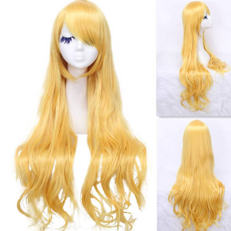 Free Shipping  new arrival women  fashion 80cm long beige wavy sweet Cosplay party cos hair wig CW201B<br><br>Aliexpress