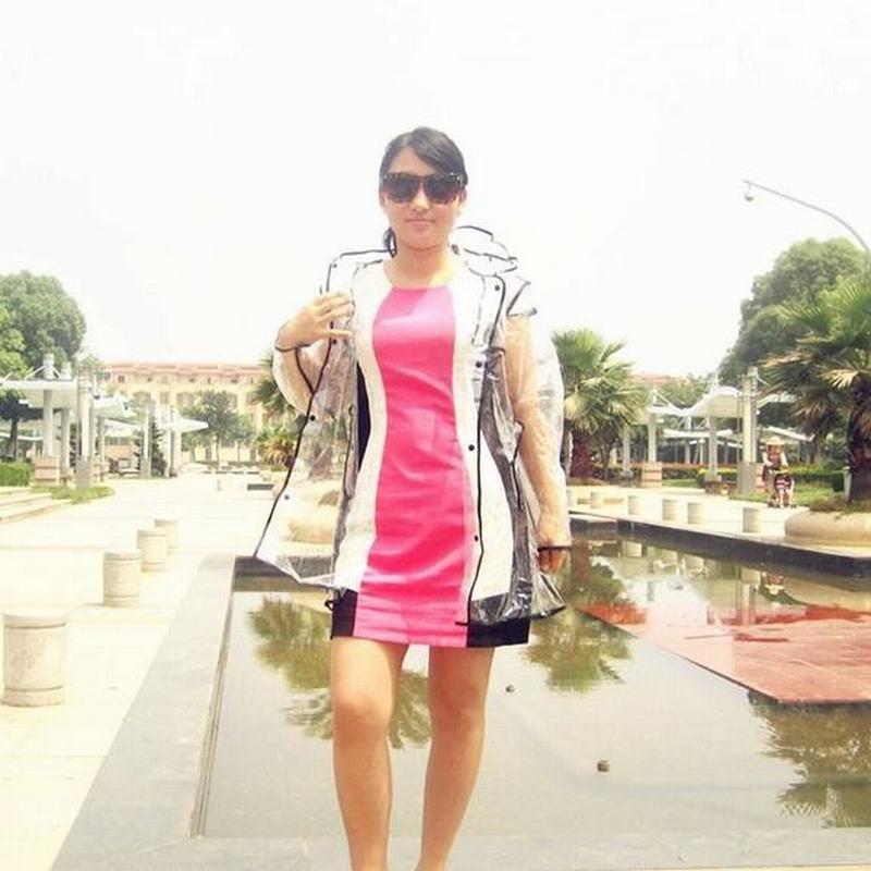 Мужские женские прозрачный EVA плащ открытый путешествие мода плащи высокое качество прочный дождь водонепроницаемую одежду