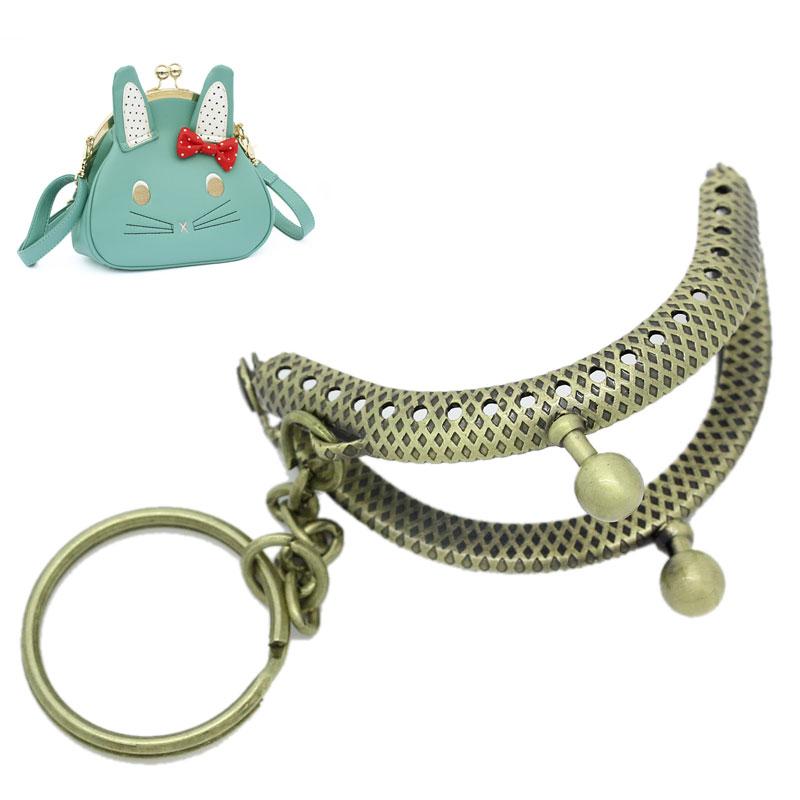 2x5PCs Metal Purse Bag Frame Kiss Clasp Lock Bronze Tone 5cm x4cm(China (Mainland))