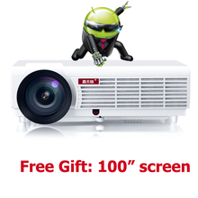 5500 lumens Android TV Wifi 1080p projector home cinema overhead multimedia projektor dvd mobile proector holographic hologram data show home audio ...