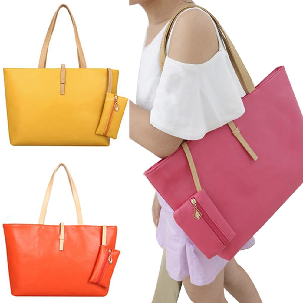 Woman s Messenger Bag PU Leather Change Purse Shoulder Bag Casual Handbag