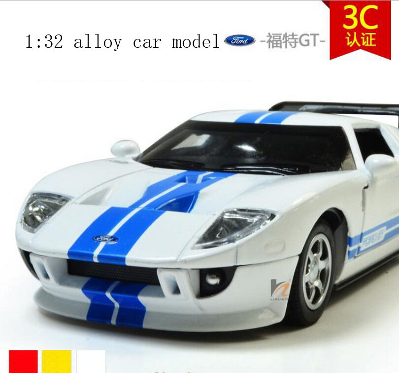 1:32 alloy children toy car model ford GT cars with logo light alloy car boy's gift(China (Mainland))