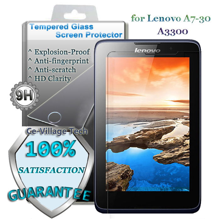 9H Hardness 2.5D Round Edge Explosion-Proof Transparent Tempered Glass LCD Guard Lenovo Tab A7-30 A3300 7'' Protector - Ce-Village Tech Co.,LTD store