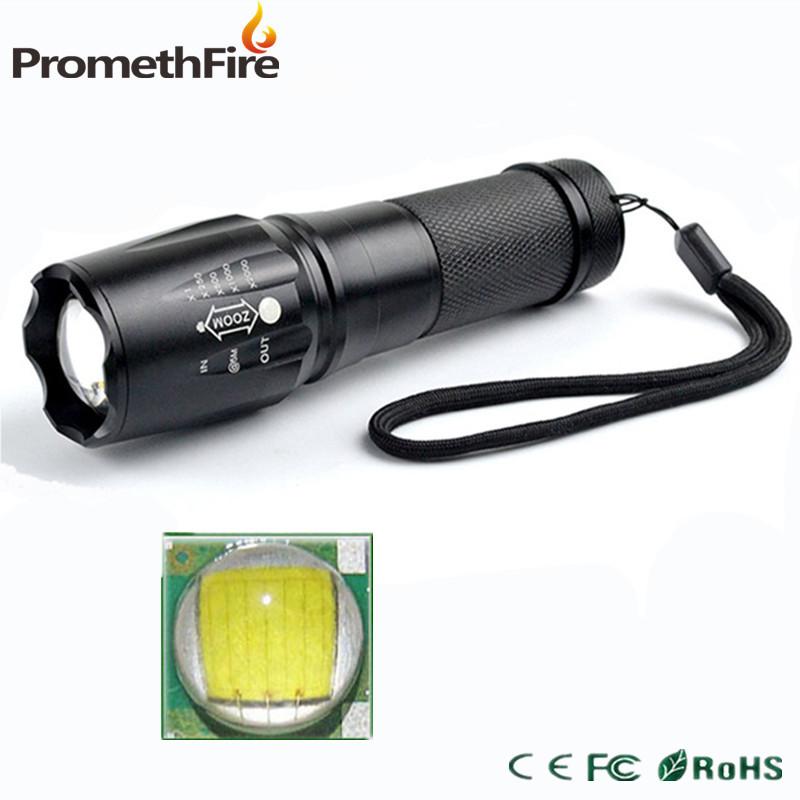Promethfire Bright led 2000 Lumens T6 LED Flashlight led bulb Zoomable Torch light lanternas led by 26650 18650 AAA Battery(China (Mainland))