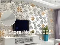 цветок печатных дамасской стены бумаги ПВХ тиснением Текстурированные обои роллы дома deoration c-09