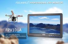 Free shipping!FEELWORLD FPV101AH HD 10″ 1024X600 FPV Video Monitor Screen For Camera Drone DJI