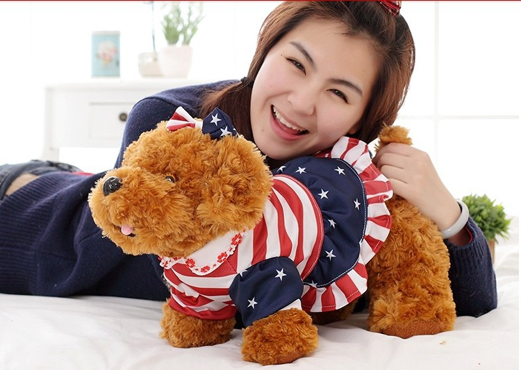 stuffed animal light brown Teddy dog plush toy about 50 cm toy poodle dog  soft doll t7068<br><br>Aliexpress