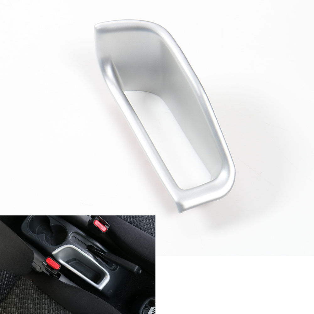 ABS Matt Silver Auto Car Inner Hand Brake Box Storage Container Cover Trim Styling Sticker Fit Fit Suzuki Jimny 07-2015