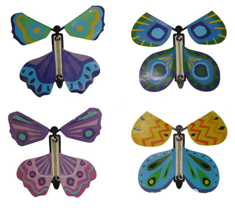 48pcs Funny gadgets magic butterfly flying butterfly from empty hands freedom butterfly magic tricks kids children toy 81067(China (Mainland))