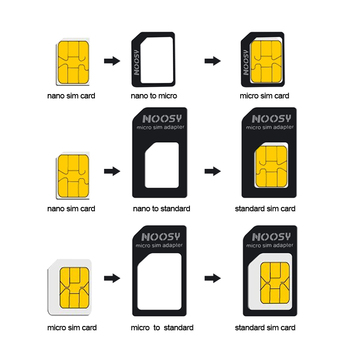 4 in 1 Nano SIM Card Adapters Micro SIM Adapters Standard SIM Card Adapter Eject Pin For iphone 4 4S 5 6 6S All Mobile Phones