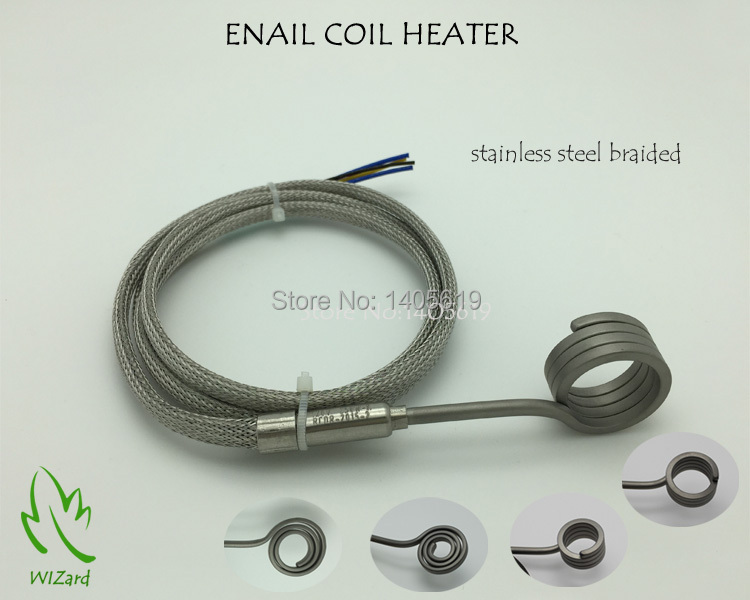ENAIL COIL HEATER,STAINLESS STEEL BRAIDED SLEEVE,THERMOCOUPLE K,With XLR, (SUPPORT CUSTOM)(China (Mainland))