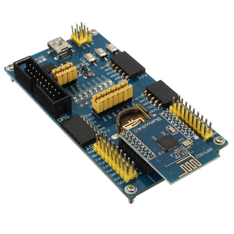 J34 NRF51822 BLE4.0 Bluetooth Evaluation Board 2.4G Wireless Communication Module Suits for Industry control Module Board(China (Mainland))