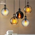 Nordic Europe Brief Handmade Crystal Glass Led E27 Pendant Light for Dining Room Restaurant Bar Dia