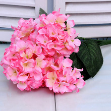 1 Bouquet Artificial Flowers Fall Vivid Hydrangea Fake Leaf Wedding Home Party Decoration Silk Flower European 6 Branches(China (Mainland))