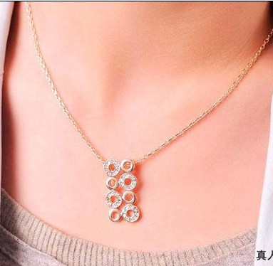fashion necklaces women 2014 coins Austrian crystal necklace Christmas gift - Jinghong Jewelry store