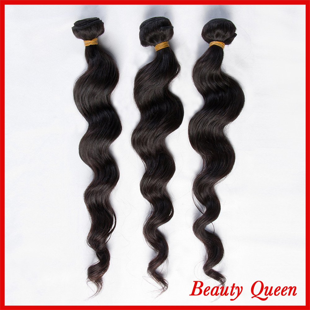 7A Peruvian virgin hair 1B(Natural black) Tangle Free No Shedding 3 Bundles DHL Free shipping