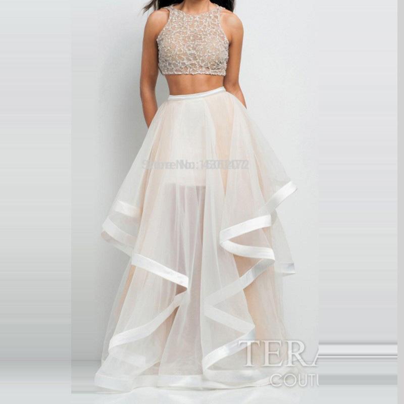 2 Piece Plus Length Prom Dresses Misschatter