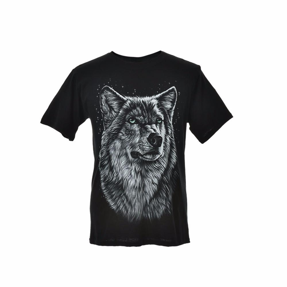 1PCS Women Men Summer Short Sleeve O-Neck T-Shirt 3D T-Shirt Cotton Blend Wolf Printing Tops Tees Women Clothes Plus Size M-XXXL(China (Mainland))