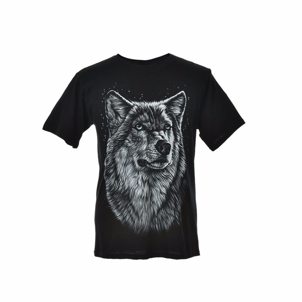 Women Men Summer Short Sleeve O-Neck TShirt Cotton Blend Wolf Printing Tops Tees Women Clothes Plus Size M-XXXL 3D T-Shirt(China (Mainland))
