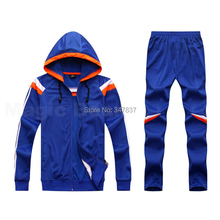 High Quality Wholesale soccer hoody jacket  pants Winter Long-sleeve football hoodie Suit Adult Sport Wear(China (Mainland))