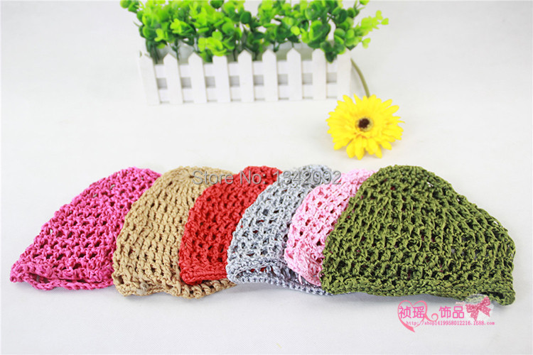 Crochet Hair On Net Cap : Rayon Snood Hat Hair Net Crocheted Hair Net Covering Head Cap Hair ...