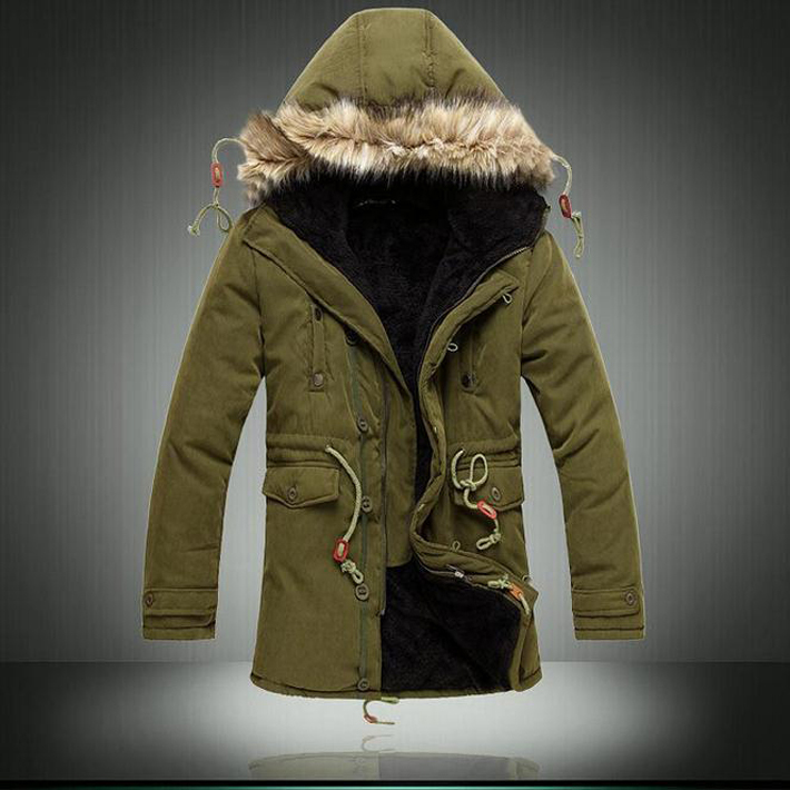 2015 Hot Sale Men's Solid Comforatble Causal Long Warm Coat Male Fashion Padded Hooded Winter Wear  Thick Coat MWM060(China (Mainland))