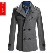 Luxusný zimný pánsky kabát z Aliexpress