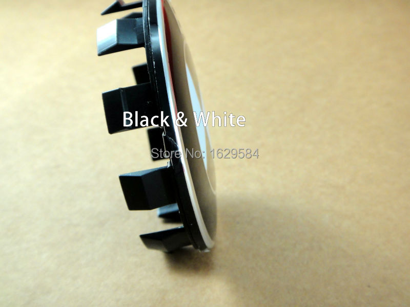 4 pcs Black + White 68MM Wheel Rims Accessories Car Wheel Rim Emblems Cover Auto Wheel hub Logo Caps(China (Mainland))
