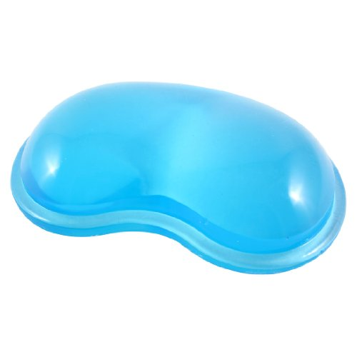 10pcs/lot Blue Gel Wavy Mouse Pad Wrist Rest Support for Desktop PC Computer(China (Mainland))