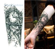 New Waterproof Flower Tattoo 3D Tattoo Sticker Mechanical Tattoo Male Women Body Paint Temporary Body Rocker