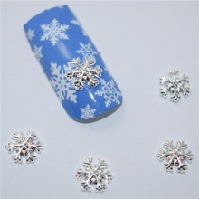 50Pcs new snowflake, 3D Metal Alloy Nail Art Decoration/Charms/Studs,Nails 3d Jewelry #153