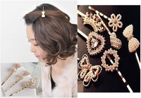pearl flower cystal hair clips hairpins Accessories decor Lady girl's CN post