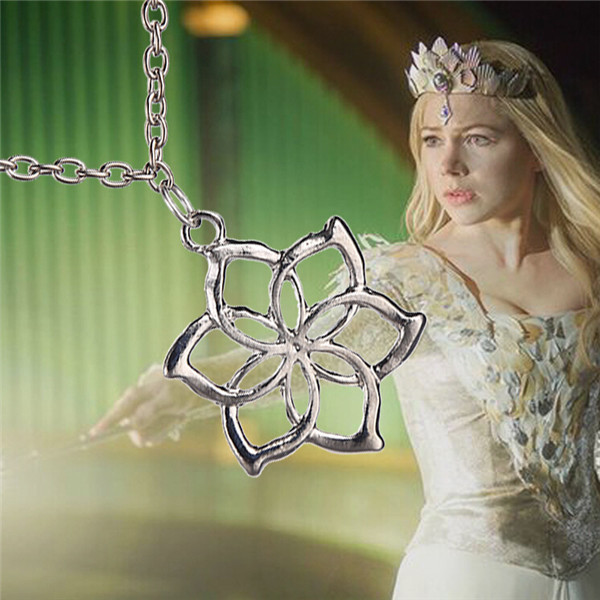 popular vintage the lord of the ringss the Elves Galadriel Queen necklace the hobbit flower necklace(China (Mainland))