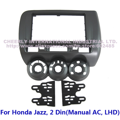 Double Din Car Facia Fascia Honda Jazz Fit Spot LHD DVD Stereo Audio CD Dash Installation Panel Kit Bezel Frame Adaptor - Cheerly International Industrial Ltd. store