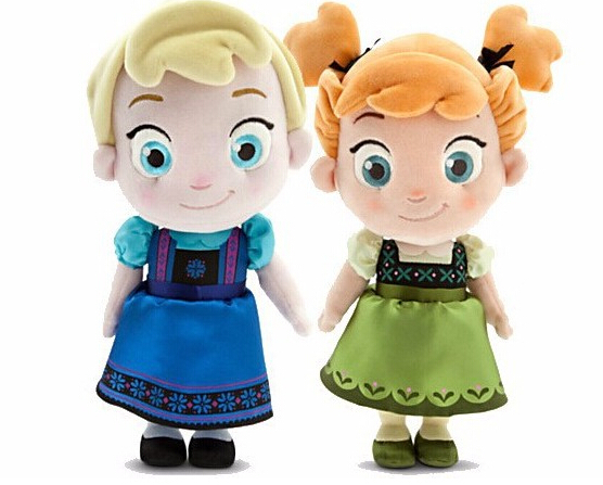 Childhood Edition Elsa anna doll - 30CM Dolls Toys Elsa Anna Plush Dolls Toys Cartoon Dolls children toys(China (Mainland))