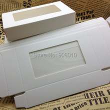 20pcs White Paper Gift Box with PVC window For packing/protecting Glass Crystal Fancy Stones(China (Mainland))