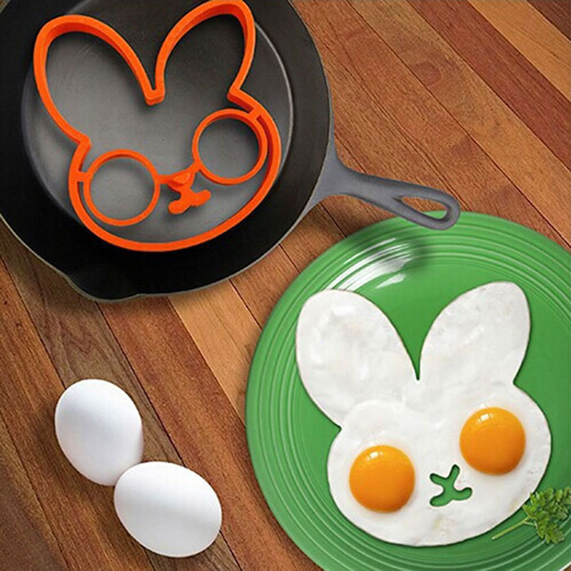 1 PC Cooking Tools Creative Breakfast Non Stick Silicone Fried Egg Mould Cooking Tools For Kid Gift Rabbit Shape Egg Mold(China (Mainland))