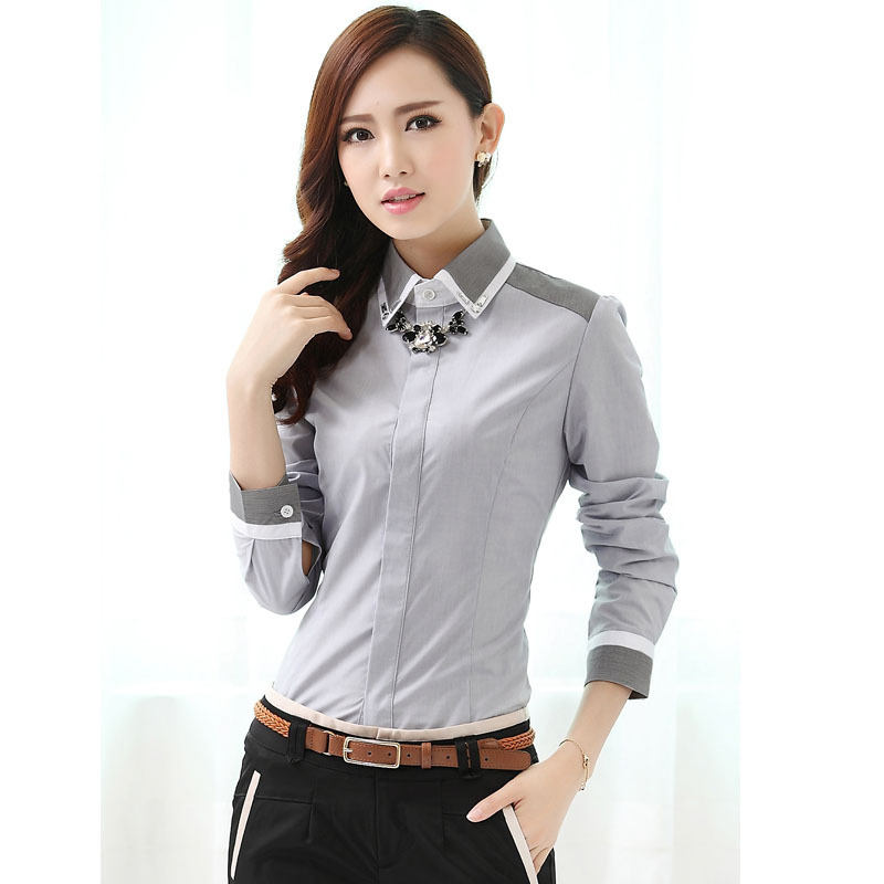 ... Blouses Slim OL Office Uniform Shirts Plus Size XXXL Free Shipping: www.aliexpress.com/item-img/Formal-Women-Shirts-Gray-Long-Sleeve...